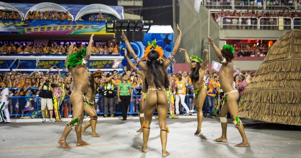 Boogie at the Crazy Colourful Carnival on a Brazil Private Tour