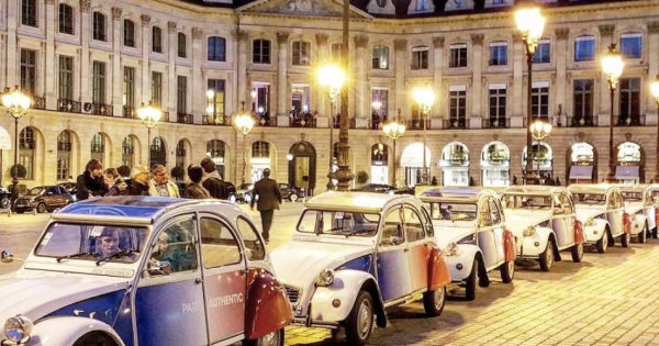 Paris By Night in a Vintage car - Classic Tour (2 hours)